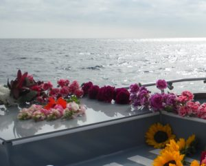 flowers burial at sea